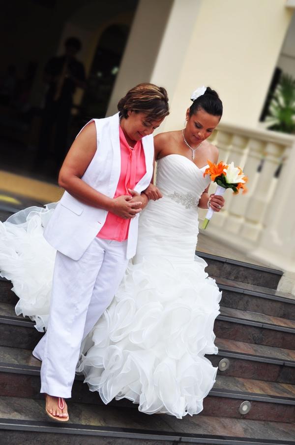 Destination wedding at Barcelo Maya Palace, Mexico